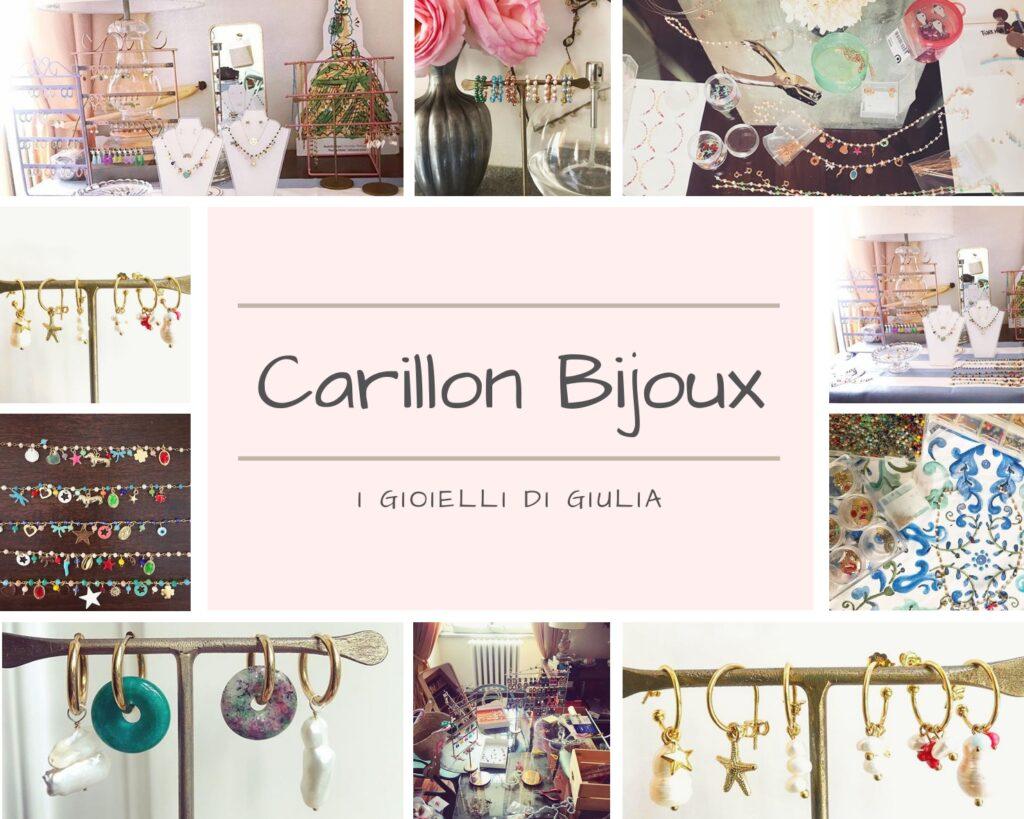 Colorati, divertenti e alla moda: sono i gioielli fatti a mano da Giulia di Carillon Bijoux. Il suo segreto? Creare con leggerezza e cura del dettaglio, per passione.