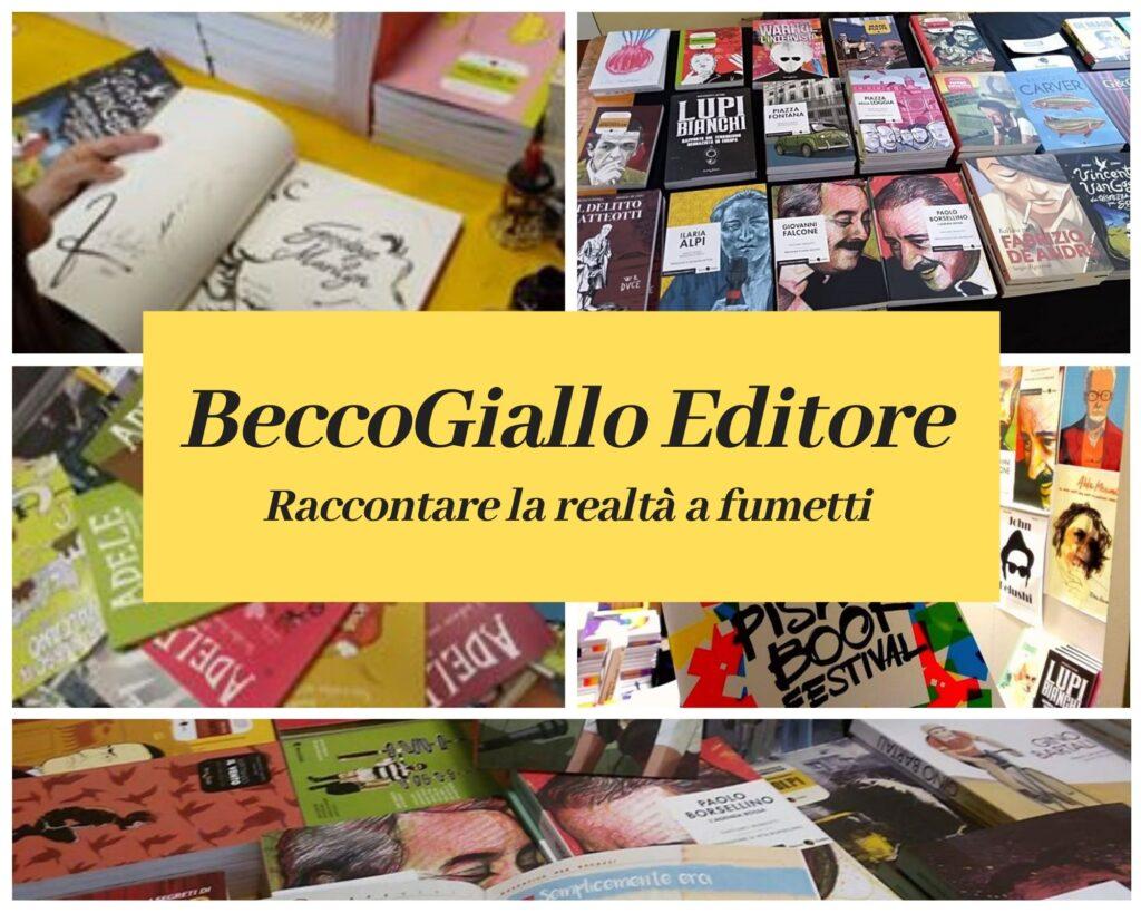 La Casa Editrice Becco Giallo racconta le vicende più controverse della storia e della recente attualità a fumetti. Un progetto unico in Italia che sta consolidando il proprio successo, nato quasi 15 anni fa.