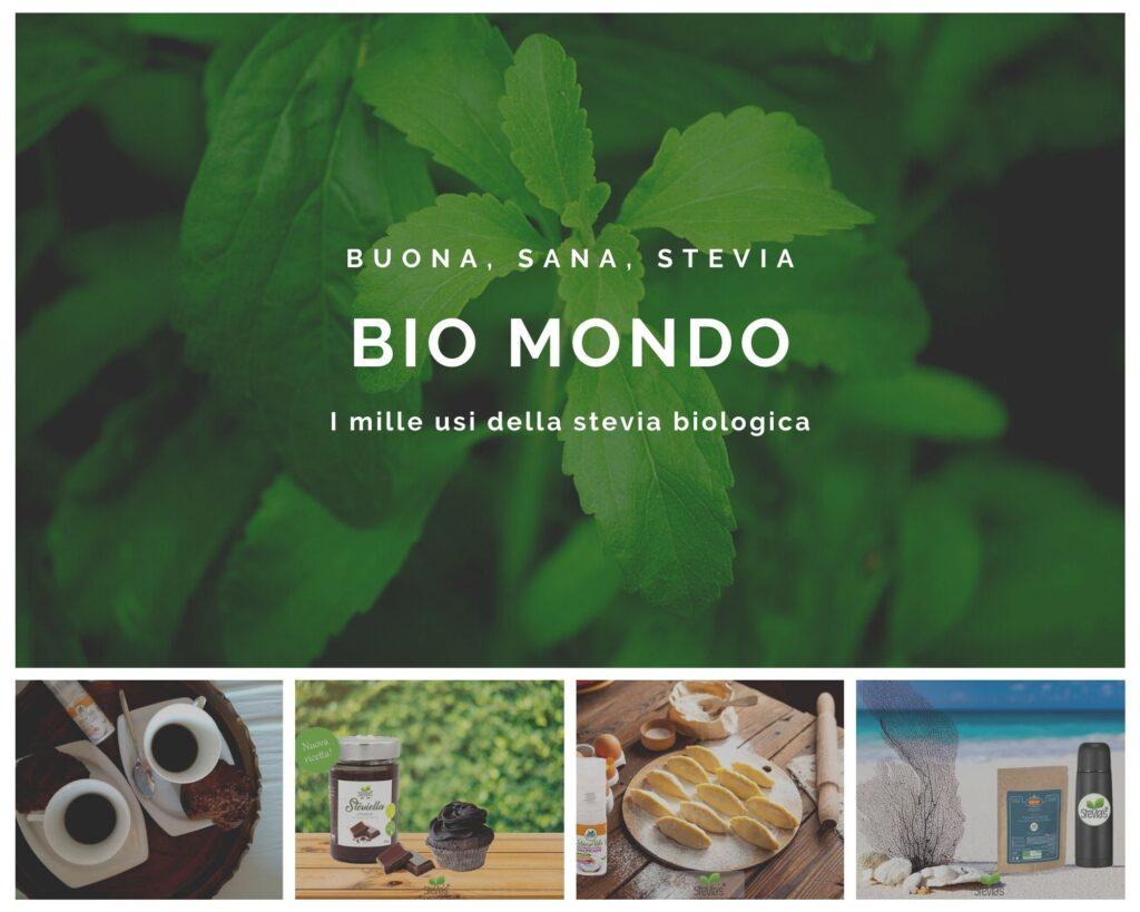 Bio Mondo è un'azienda che produce prodotti alimentari e cosmetici che contengono stevia biologica