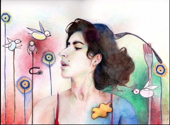 Le illustrazioni e i ritratti di Sara Braga, artista che vive a Venezia