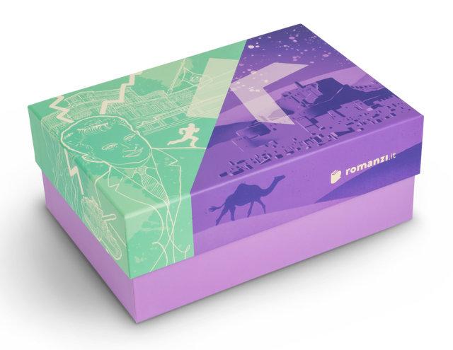 Romanzi.it : la grafica della box