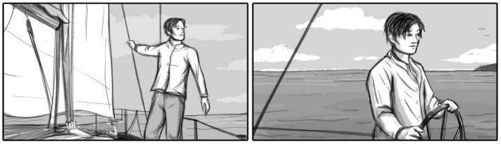 Il mare la terra il cuore storyboard